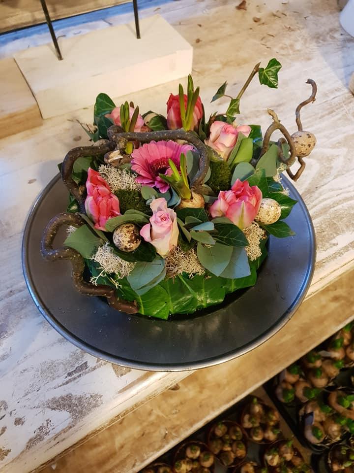 Workshop bloemschikken bloemstuk maken